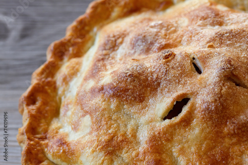 Photo  Apple Pie Close-up