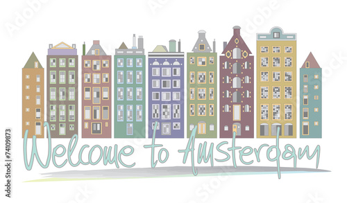 Welcome to Amsterdam Canvas Print