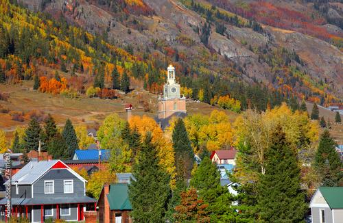 Fotografie, Obraz  Scenic Silverton cityscape in autumn time