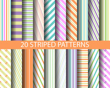 20 Striped Color  Patterns