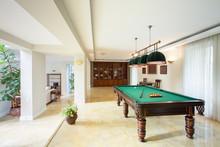 Billiard Table In Living Room