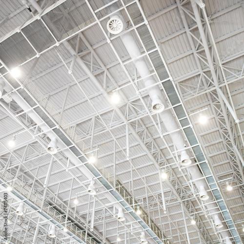 Staande foto Industrial geb. modern glass roof