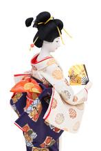 Traditional Japanese Geisha Doll Side View