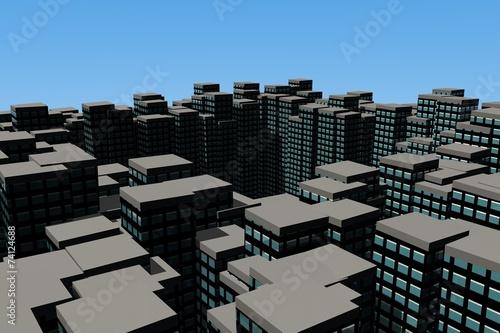 Photo Daken van een metropool