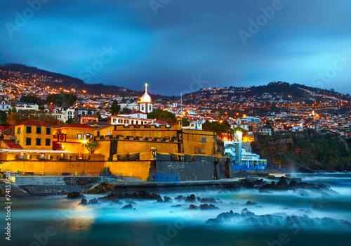 Fotografie, Obraz  View of old castle Fortaleza de Sao Tiago. Funchal, Madeira, Por