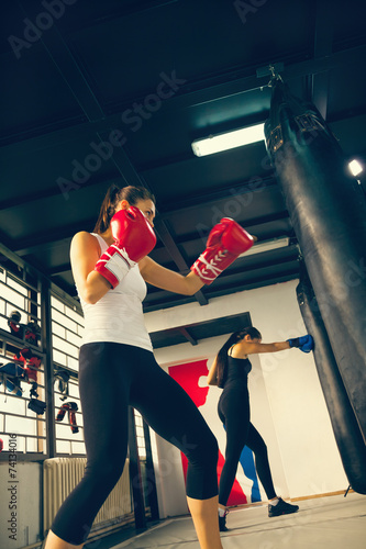 Fotomural  Female Boxers At Training