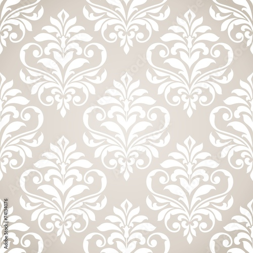 Fotografia, Obraz  Seamless damask pattern.