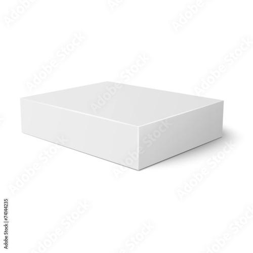 White Flat Paper Box Template Kaufen Sie Diese Vektorgrafik Und