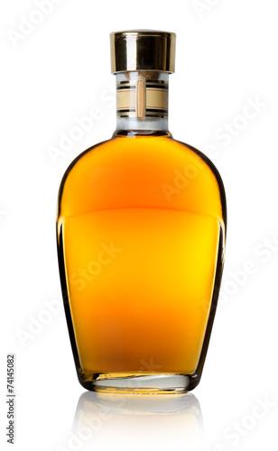 Fotografia  Cognac in a bottle