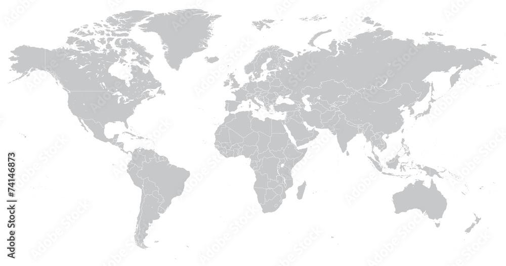 Fototapety, obrazy: Hi Detail Vector Political World Map illustration