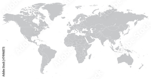 Obraz Hi Detail Vector Political World Map illustration - fototapety do salonu