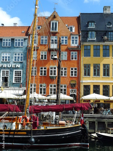 Photo  Port de Nyhavn à Copenhague