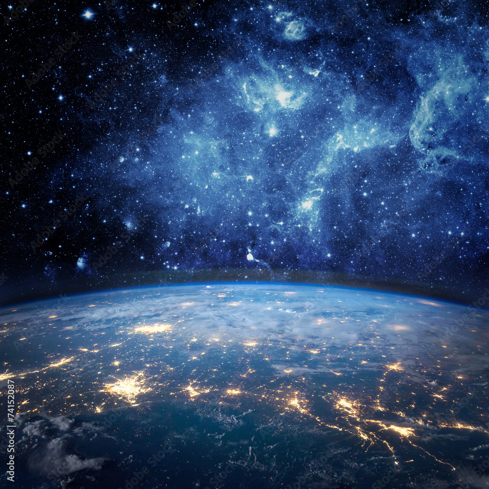 Fototapety, obrazy: Earth and galaxy
