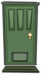 Hand drawn door