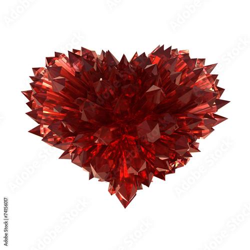 Ruby heart Canvas Print