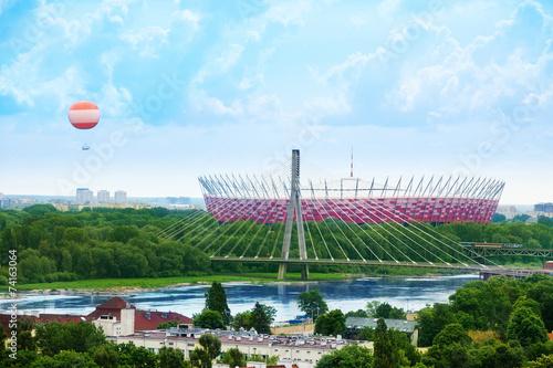 Soccer stadium in Warsaw #74163064