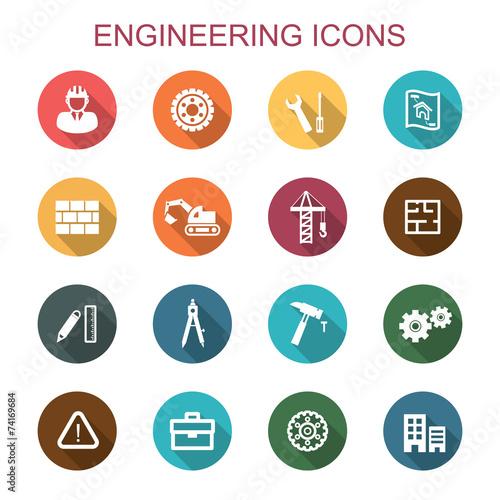 engineering long shadow icons