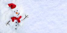 Snowman On Snow