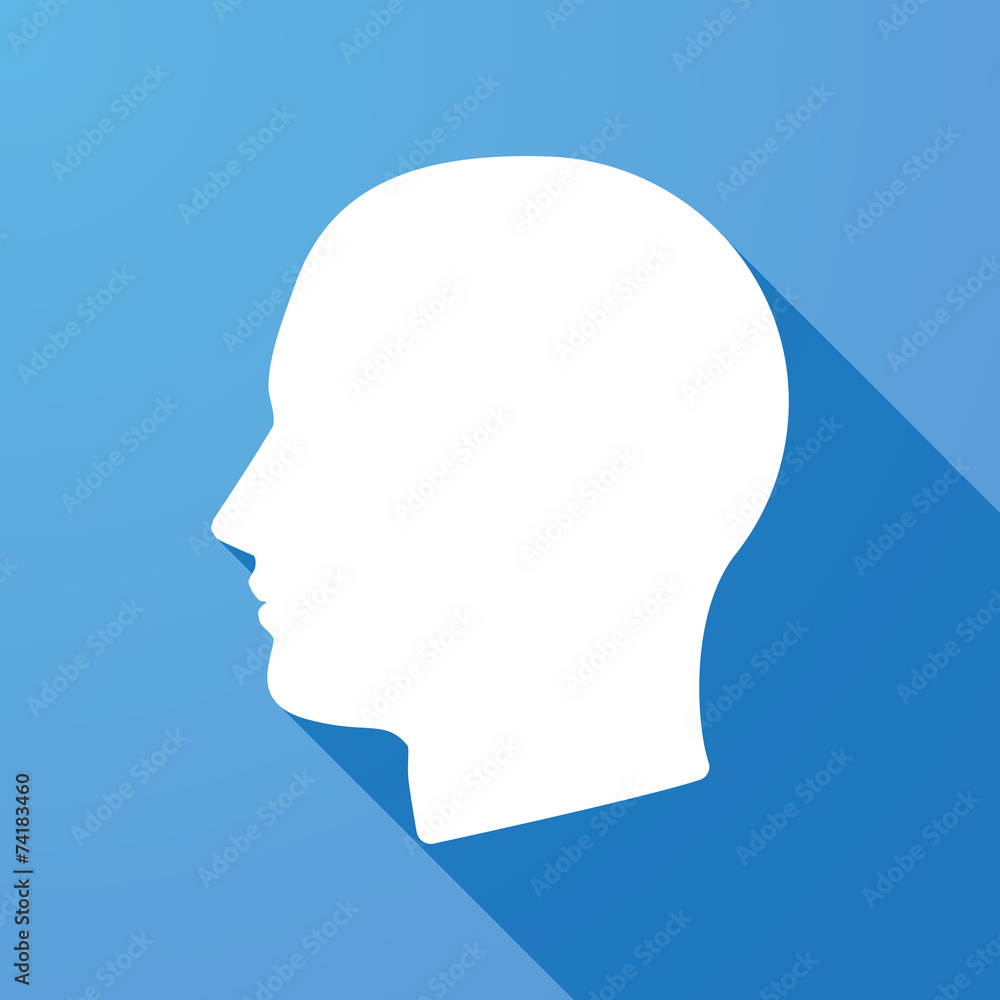 Fototapeta Long shadow icon with a head