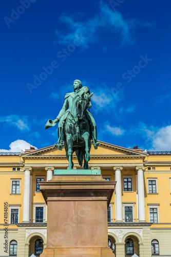 Photo  Statue  king Carl Johan XIV in Oslo