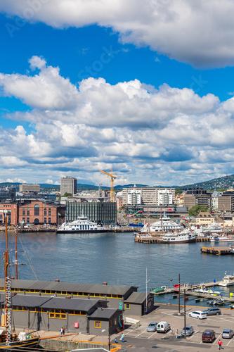 Photo  Oslo skyline and harbor. Norway