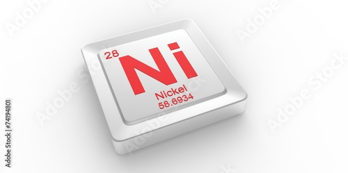 Ni Symbol 28 For Nickel Chemical Element Of The Periodic Table Buy