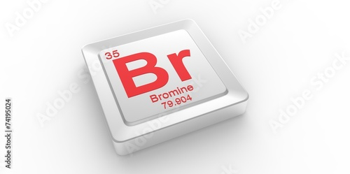 Br Symbol 35 For Bromine Chemical Element Of The Periodic Table