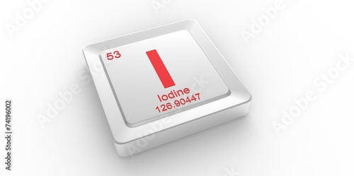 I Symbol 53 For Iodine Chemical Element Of The Periodic Table Buy
