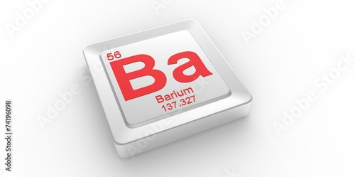 Ba Symbol 56 For Barium Chemical Element Of The Periodic Table Buy