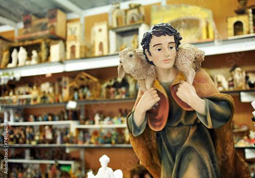 Photo  Figuras del Belén, mercado de Navidad