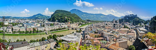Fényképezés  Panoramic cityscape of Salzburg, Austria