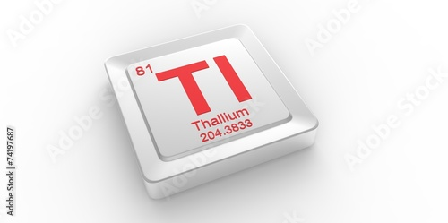 Tl Symbol 81 For Thallium Chemical Element Of The Periodic Table