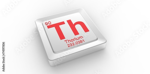 Th Symbol 90 For Thorium Chemical Element Of The Periodic Table
