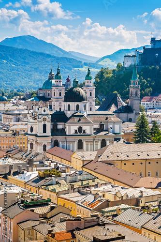 Staande foto Praag Panoramic cityscape of Salzburg, Austria