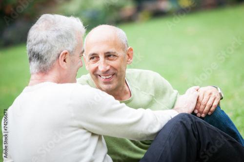 Fotografie, Obraz  Homosexuální pár v parku v New Yorku