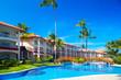 Tropical resort.