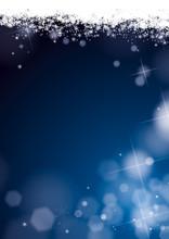 Fond Flocons De Neige Paillettes Bleu Nuit