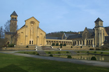Abbey In Orval In Belgium