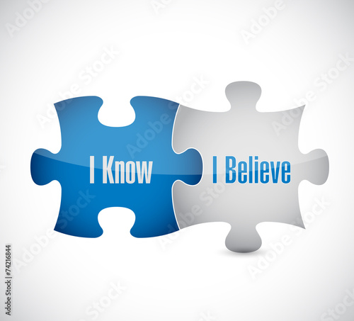 I know I believe puzzle pieces illustration design Wallpaper Mural