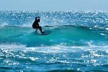 Surfer In Surfers Paradise Gold Coast Australia