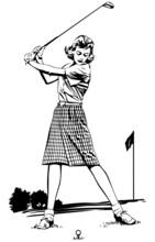 Woman Golfer 2