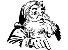 Santa Claus Pointing