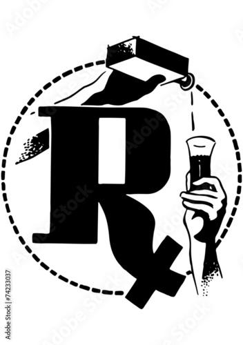 Fotografia  RX With Medicine Poured