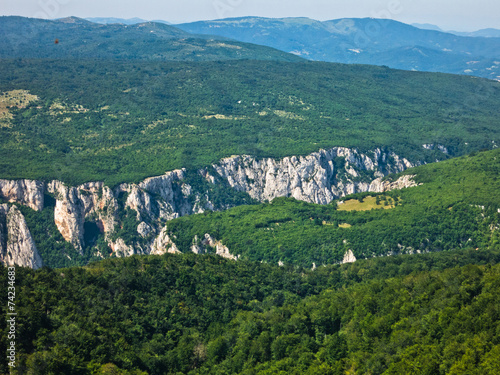 Fotografie, Obraz  Lazar gorge, one of the most inaccessible places in Serbia