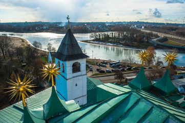 Yaroslavl. Image of ancient Russian city, view from the top.