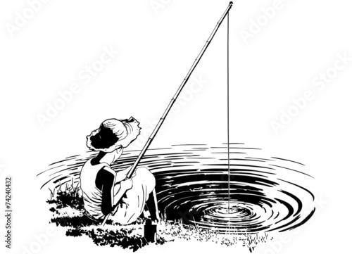 Fotografie, Obraz Favorite Fishing Hole