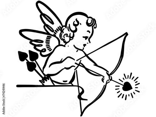 Cupid Shooting Arrow Canvas Print