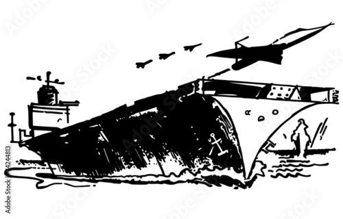 Tableau sur Toile Aircraft Carrier