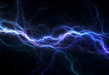 Blue Electric Lighting, Abstra...