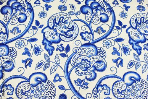 Fotografie, Obraz  Jacobean patterned fabric